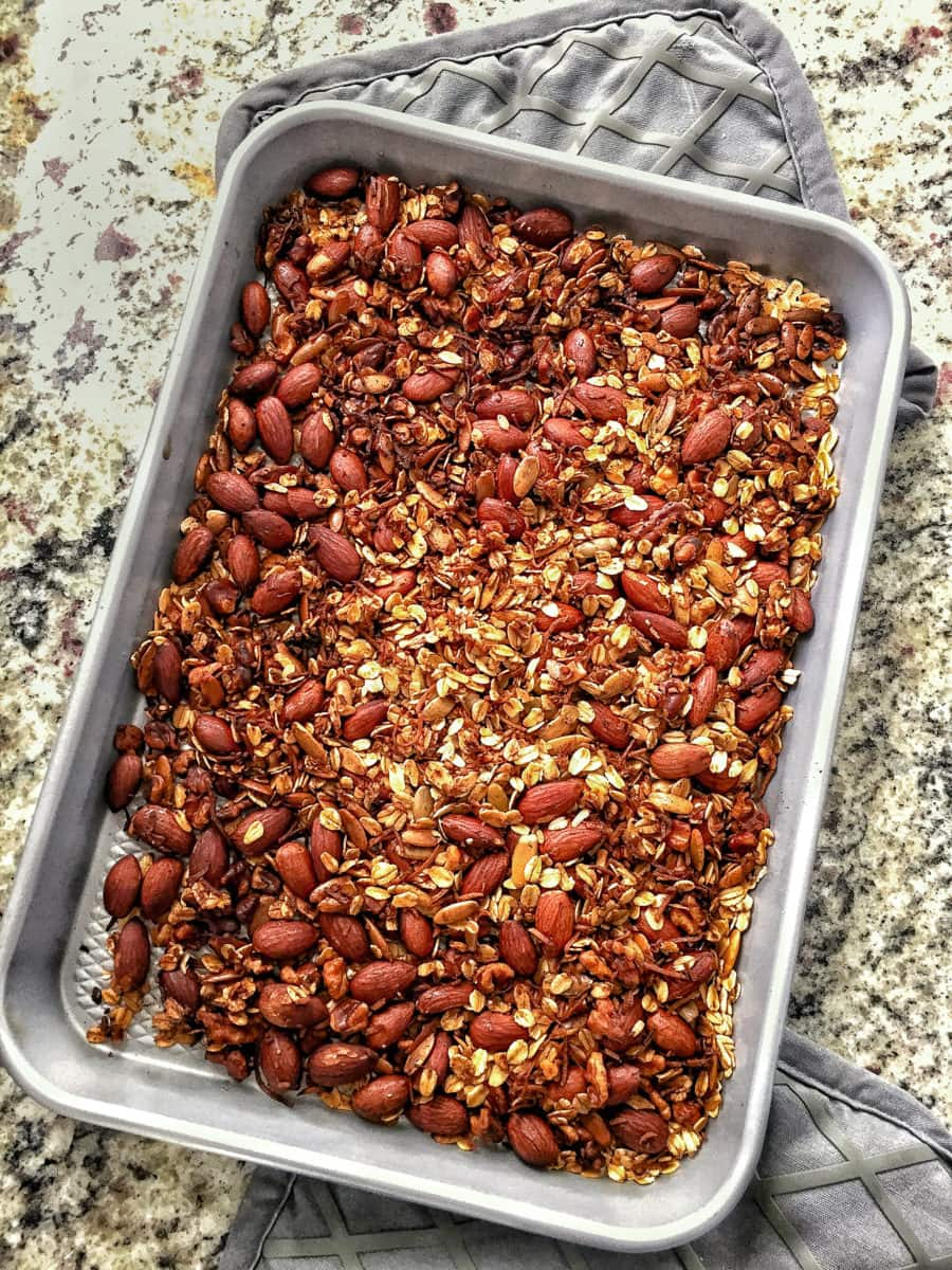healthy homemade granola without sugar