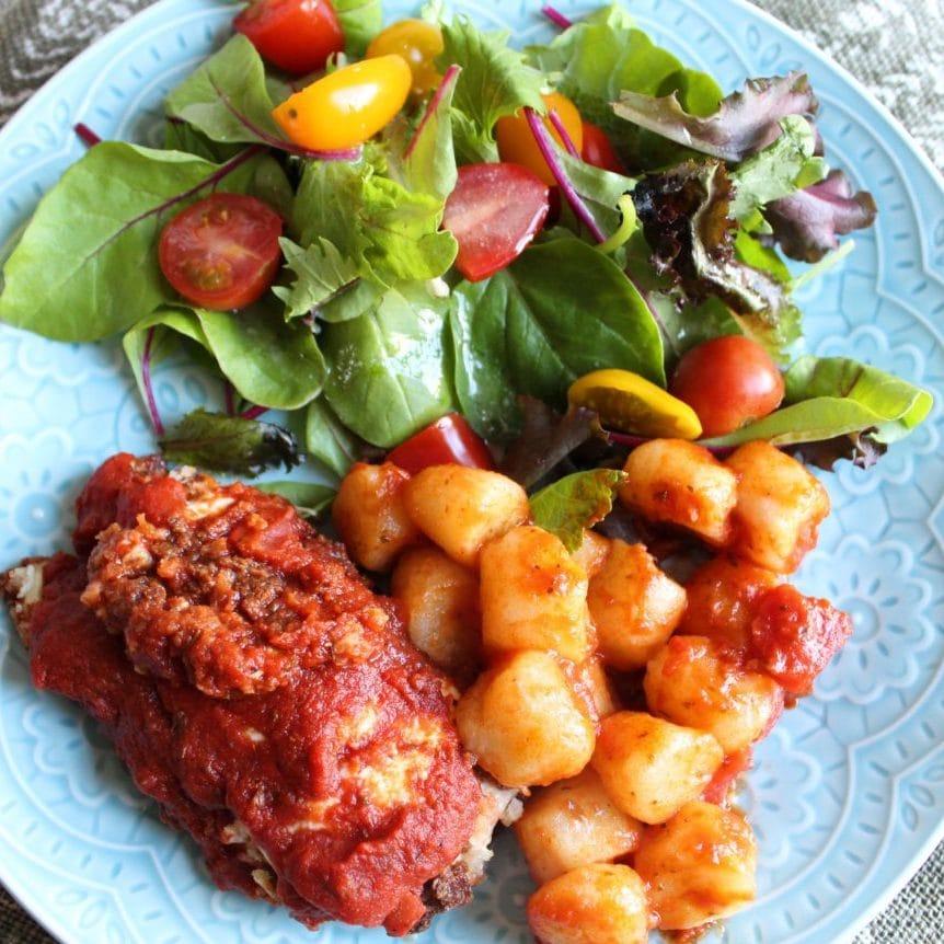 Healthy Chicken Parmesan Bake