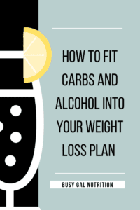 How to fit carbs and alcohol into your weight loss plan