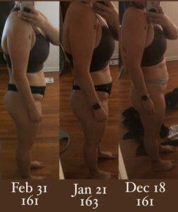 Diana progress photos