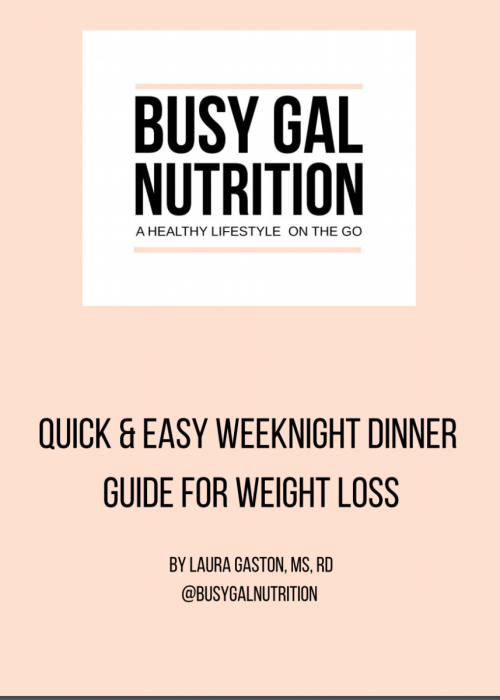 weeknight dinner guide cover